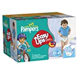 Pampers Easy Ups Trainers, Super Pack, Boy, Size 5 S3T/4T, 72 Count