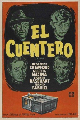 The Swindle Poster film Argentine In 11 x 17 cm x 28 cm, 44 Broderick Crawford Giulietta Masina Richard Basehart Franco Fabrizi Sue Ellen Blake