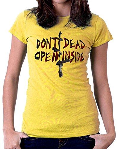 T-shirt - Don't dead open inside - S M L XL XXL maglietta by tshirteria