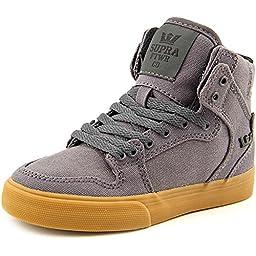 Supra Kids Vaider Youth US 3.5 Gray Sneakers