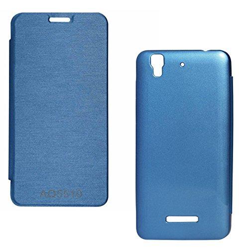 DMG Premium Hot Pressed PU Leather Flip Cover Case for Micromax Yureka Yu AQ5510 (Royal Blue)