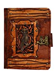 Sitting Owl Side Pendant Kindle Fire HD Kindle Keyboard Case Cover Vintage Leather Hardcover Wallet Pouch Cases Covers Lock Brown Suitable for Samsung Galaxy Tab 2 7.0 P1000 Kobo Aura HD Kobo H2O Kobo Arc Kobo eReader Wireless