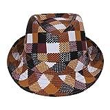 C-Princess キュートな子供用中折れ帽子 コットン サンバイザー 格子模様 UVカット 紫外線防止 日よけ 吸汗通気性抜群 頭囲54cm