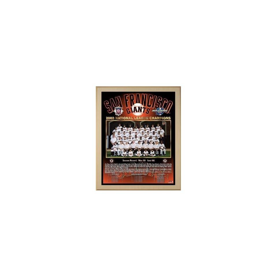 2002 National League Champions San Francisco Giants Championship Team Photo Plaque (you choose color & size)