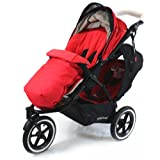 Universal Luxury Footmuff Cocoon - Red For Phil & Teds Double Kit / Navigator / Explorer / Dash / Dot / Vibe