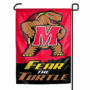 NCAA Maryland-Fear The Turtle Logo Garden Flag
