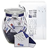 KindNotes LONG DISTANCE RELATIONSHIP Keepsake Gift Jar of Messages for Him or Her Birthday, Anniversary, Just Because - Airmail
