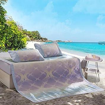Cool matelas Jupe de glace tres-pièce pliable / antidérapant mat tapis doux costume 150 * 200cm Tapis de bambou frais ( taille : 180*200cn )