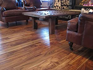 "3/4"" Handscraped Acacia Walnut Solid Prefinished Hardwood Wood Floor Flooring"
