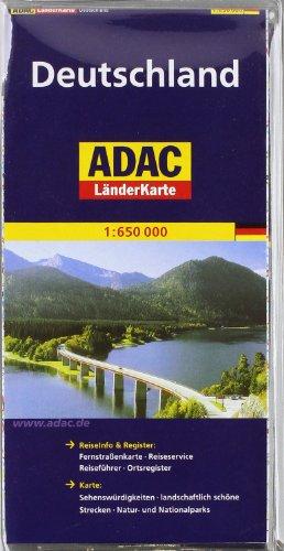 ADAC Länderkarte Deutschland in Hülle 1:650.000: