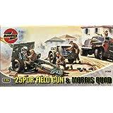 Airfix A01305 25pdr Field Gun & Quad 1:76 Scale Series 1 Plastic Model Kit