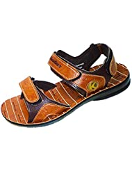 Khadims Men's Brown Synthetic Leather Sandals -10 UK