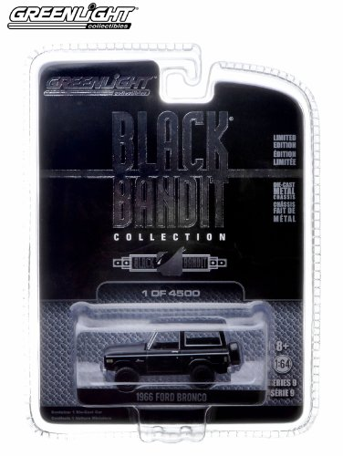 1966 Ford Bronco * Black Bandit Collection Series 9 * 2013 Greenlight Collectibles 1:64 Scale Vehicle Die-Cast (Limited Edition / 1 of only 4,500 Pieces)