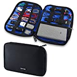 #6: GoFree Digital Accessories Organizer Pouch / Case - For Multiple USB Cables, Charger, Power Bank, SD Cards, Pen Drive, Battery, Stationary, Emergency Items etc.
