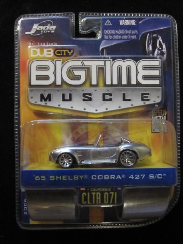 65 Shelby Cobra 427 S/C (Silver) Dub City Bigtime Muscle By Jada