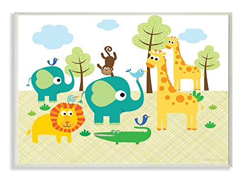 The Kids Room by Stupell Jungle Animal rectangle Wall Plaque
