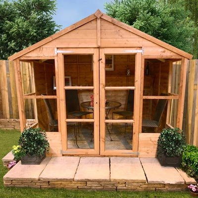7FT x 7FT GUERNSEY TONGUE & GROOVE SUMMERHOUSE (Solid OSB Floor & Roof)