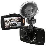 "podofo® 車のカメラDVRドライブレコーダー Full HD高画質140°超広角 2.7"" LCD WDR 常時録画G-センサー搭載 (ブラック)"