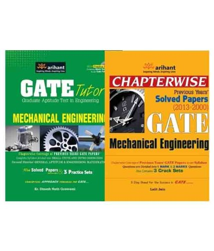 GATE Mechanical Engineering Guide & Solved Paper (Set of 2 Books)
