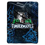 "Minnesota Timberwolves NBA Royal Plush Raschel Blanket (Fierce Series) (60""x80"")"