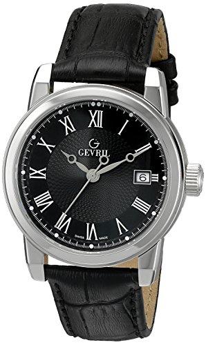 Gevril de los hombres 2524Parque negro reloj de cuarzo analógica Swiss