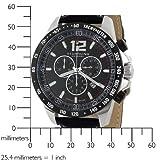 Stuhrling Original Men's 210A.33151 Concorso Chronograph Black Dial Watch
