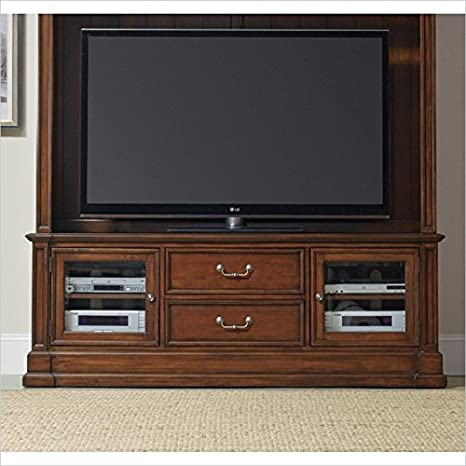 "Hooker Furniture Clermont 73"" Entertainment Console in Warm Cherry"
