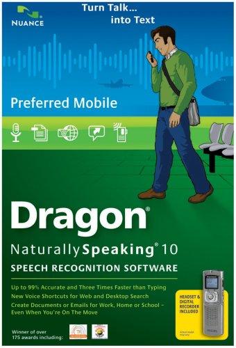 Dragon NaturallySpeaking Preferred Mobile 10.0 (PC DVD)