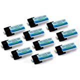 10-Pack Of Lectron Pro 3.7 Volt - 300mAh 35C Lipos For Blade Nano QX 3D And MCP X