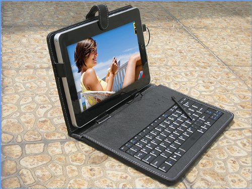 10 Inch Keyboard Leather Case with Stylus for Android Tablet Pc Epad Apad