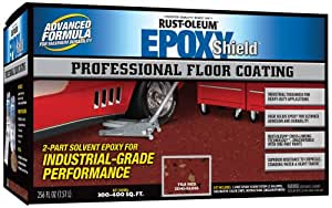 Rust-Oleum 238468 Professional Floor Coating Kit, Tile Red