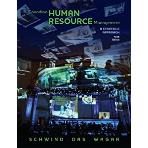 Canadian Human Resource Management Schwind