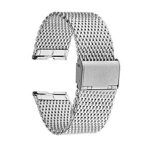 TRUMiRR Milanese dell'acciaio inossidabile della fascia cinturino 22 millimetri per Motorola Moto 360 1 1 Gen 2014, con lo strumento e la barra della molla come regalo