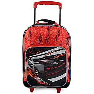 Amazon com hot wheels rolling backpack toys amp games