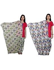 Indistar Women's Cotton Patiala Salwar With Dupatta Combo (Pack Of 2 Salwar With Dupatta) - B01HRONULC