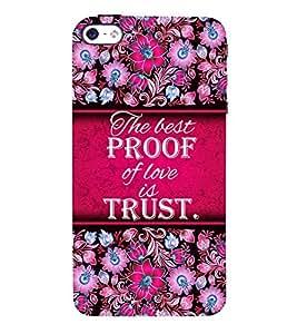 Trust Of Love 3D Hard Polycarbonate Designer Back Case Cover for Apple iPhone SE