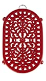 Old Dutch Red Oblong Trivet, 9-3/4 by 6-Inch