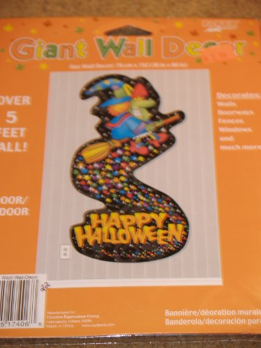 Happy Halloween Witch Giant Wall Decor