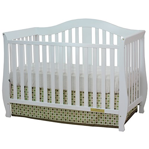 Athena AFG Desiree 4-in-1 Convertible Crib with Guardrail White - 1