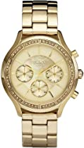 DKNY Chronograph Mother of Pearl Dial Gold-tone Stainless Steel Ladies Watch NY8252