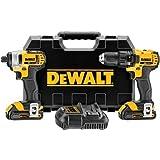 DEWALT DCK280C2 20-Volt MAX Li-Ion Compact Drill and Impact Driver Combo Kit, 1.5 Ah