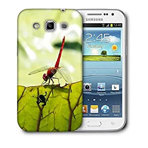 Snoogg Bloody Red Dragonfly Printed Protective Phone Back Case Cover For Samsung Galaxy Samsung Galaxy Win I8550 / S IIIIII