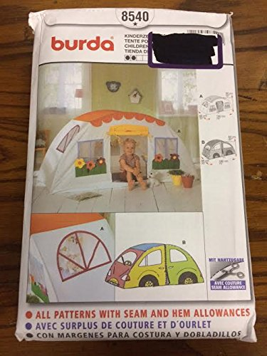 Burda 8540 Sewing Pattern, Children's Play Tent, One Size