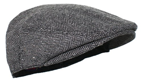 Ted and Jack - Street Easy Herringbone Driving Cap With Quilted Lining