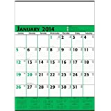 Green & Black Commercial Planner Wall Calendar Trade Show Giveaway