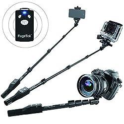 Rated #1 Professional Selfie Stick in 2015 - FugeTek High End Weather Resistent Self-Portrait Monopod, Removable Remote Shutter, Durable Adjustable Aluminum Alloy Pole Extendable to 49 , Non Slip Rubber Grip Handle, Premium U