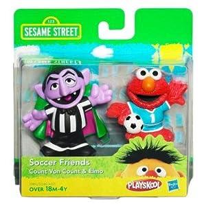 SESAME STREET PLAYSKOOL Soccer Friends Count Von Count & Elmo