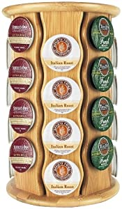 Keurig by Capital Products Bamboo K-Cup Carousel, 32-Cup