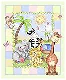 Daisy Kingdom Nursery Blanket Kit , It's A Bazoople Day