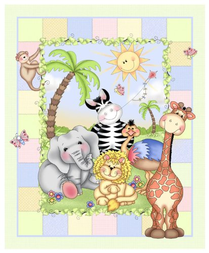 Daisy Kingdom Nursery Blanket Kit , It's A Bazoople Day